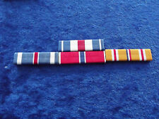 Ordensspange WWII 4 Ribbons: Silver Star, Flying Cross, Bronze Star, Pacific