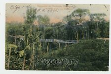 Vintage Postcard 1907 Nicaragua Bluefields Mountain Bridge Posted to Portugal