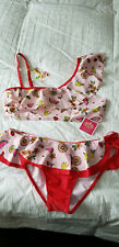 Nwt Juicy Couture Girl's 2 Pc. Swimsuit Sz. 14 New