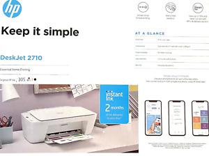 HP 5AR83B Deskjet 2710 Multifunktionsdrucker Drucker Scanner Kopierer NEU
