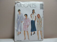 Sewing Pattern McCalls Misses Lined Jacket and Skirt 2044 Uncut
