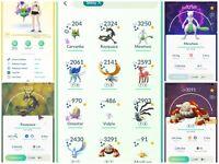 Pokemon Go Acc lv34 - shiny Mewtwo, Rayquaza, Hundo Landorus - 242 Legendary