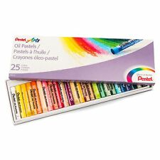 Pentel Arts Oil Pastels, 25 Color Set Easy To Use for Artists of All Ages