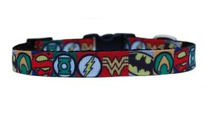 """Black red  """"Super Hero"""" chihuahua dog puppy collar collar & lead or harness"""