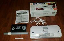 Black & Decker Seal-Away Vacuum Bag Sealer Bs200 w Bags, Instructions, Video New