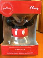 Hallmark Mickey Mouse Ears Glittery Christmas Tree Ornament 2019 Red Box Disney