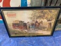 Vintage Ebbert Hickman Wagons Original Metal Sign GAS OIL SODA COLA