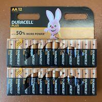 24 x Duracell AA Plus Power Alkaline Batteries LR6, MN1500 Longest Expiry UK