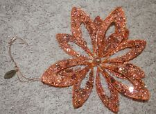 Katherine's Collection Christmas gold snowflake glitter /bead trim