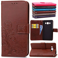 Clover Patterned Leather Cash Wallet Stand Case For Samsung Galaxy J 7 5 3 2 1