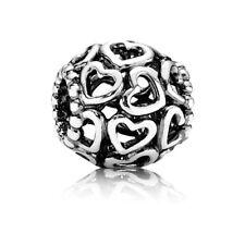 Pandora ohne Gewinde Bead Element 925 Sterling Silber Herzen 790964