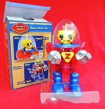 Robot MERLIN plastique de couleurs. Hauteur 22 cm. Wind-up Toys.