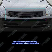 Fits 2003-2004 Infiniti G35 Sedan Black Billet Grille Grill Inserts