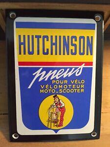Plaque émaillée HUTCHINSON pneus auto moto Garage auto enamel sign