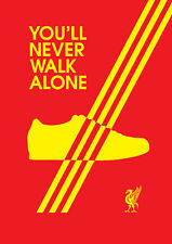 Adidas Casuals Liverpool A4 Poster 260gsm