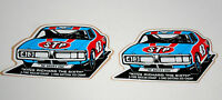 2 1970s NASCAR STP Oil Richard Petty 43 Racers Edge Charger Daytona 500 Sticker