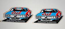 2 1970s NASCAR STP Oil Richard Petty 43 Racers Edge Charger Daytona 500 Sticker