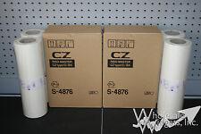 4 Genuine Riso Brand S-4876 Master Rolls Risograph S4876 CZ Type13 B4 CZ180
