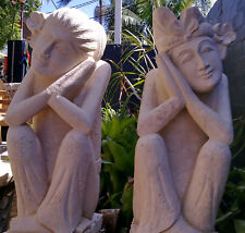 Balinese Welcome Statues - Real Stone 80cm high