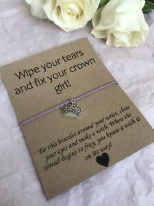 💜 Fix Your Crown Girl friendship Wish bracelet/anklet Her Love Gift Present💜