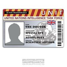 PERSONALISED Printed Novelty ID- Doctor WHO (Funny TV Card Prop)