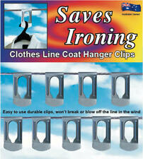 Clothes line coat hanger clips - 9 High Quality Stainless Steel clips per pack