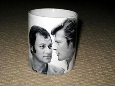 Tony Curtis and Roger Moore The Persuaders Close Up BW MUG