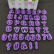 40X Alphabet Letter Number Fondant Cake Biscuit Baking Mould Cookie Cutter Mold