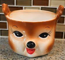 New Pottery Barn Holiday Christmas CHEEKY REINDEER Deer Figural Bowl