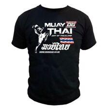 T-shirt noir unisexe pour arts martiaux et sports de combat