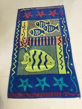 Large 100% Cotton Velour Beach Towel Fish Design