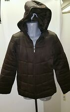 Style & Co. Womens Winter Hooded Coat. Size: 14/Brown.