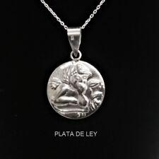 COLGANTE MEDALLA ANGEL DE LA GUARDA PLATA de LEY + Estuche Envío certificado
