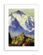 LANDSCAPE ALPINE SCENE MOUNTAIN SCHYNIGE PLATTE SWISS Poster Painting Canvas