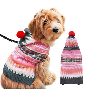 Pet Dog Cat Knitted Sweater Jumper Winter Warm Puppy Coat Jacket Knitted Clothes
