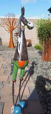 Esel. 1,10 Meter große Skulptur aus Metall für Drinnen und Draußen