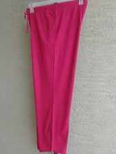 Woman Within Cotton Blend Jersey Sport Elastic Waist Pants 1X 22-24W  Magenta