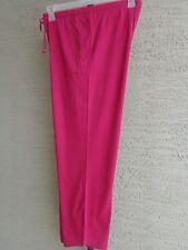 Woman Within 1X 22-24W Cotton Blend Jersey Sport Elastic Waist Pants   Magenta