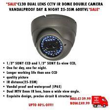 CL30 Lente Dual CCTV IR Cámara Domo Doble a prueba de vandalismo día y noche 25-35M 600TVL
