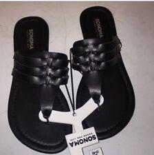 Sonoma women's black slippers & flips