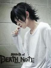Hot DEATH NOTE L Lawliet Anime Black Short Heat Resistant Cosplay Full Hair Wig