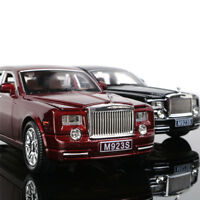 1/24or1/32Rolls-Royce Phantom Metal Diecast Model Car Toy Sound&Light Black Gift