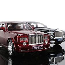 Rolls-Royce Phantom 1:24 Metal Diecast Model Car Toy Sound&Light Black xmas Gift