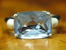 925 Sterling Silber Ring mit Blautopas Besatz / Echtsilber / 5,5g / RG55
