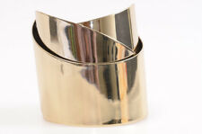 Alexis Bittar gold metal brass geometric layer ribbon cuff bracelet NEW $295