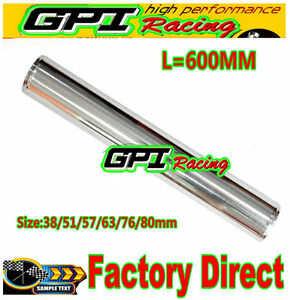 "51 mm 2"" inch  Straight Aluminum Turbo Intercooler Pipe Tube Tubing 600 MM"