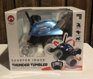 Sharper Image Blue Thunder Tumbler Remote Cobtrol 360 Degree Spinning Toy RC Car