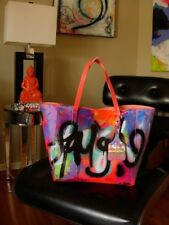 FUN Hand-painted Studio ART Graffiti Tote Shoulder Bag Handbag Purse Accessory