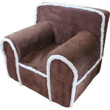 Insert For Pottery Barn Kids Anywhere Chair + Chocolate Suede Sherpa Cover Small