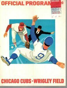 1974 (8/16) Baseball program w/Ticket San Diego Padres @ Chicago Cubs, scored~Fr